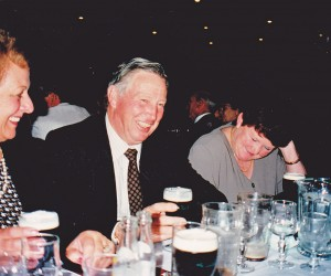The Guinness flowed freely and was appreciate. Here Joyce and Pat Taylor and Joey Camps
