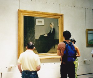 Whistler's mother in the Musee D'Orsay Paris (the real thing)