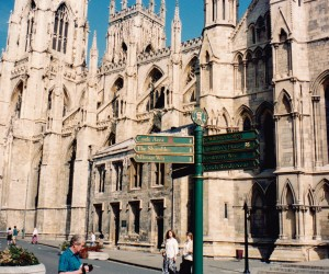 Impressive York Minster Cathedral that we visited on the way up to Scotland.  I thought these 2 cathedrals would look good as book ends here.