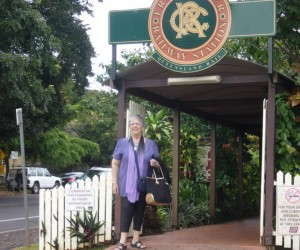 Michelle at Freshwater station entrance