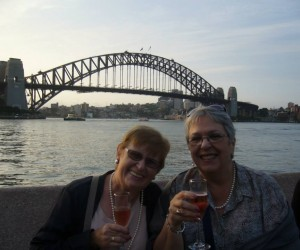 Colleen and Michelle at Opera concourse