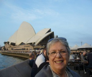 Michelle in front of Opera House