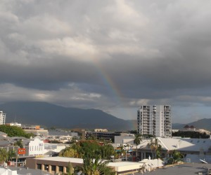 Rainbow to greet us into Cairns FNQ