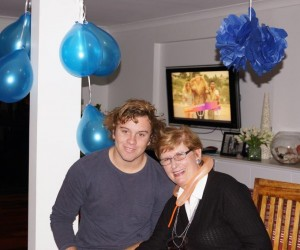 Colleen with Max on his 17th birthday