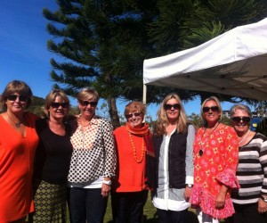 Rhonda's birthday at Waterline, - with the girls. L to r.  Helen, Margie, Pauline, me, Lesley, Rhonda and Michelle