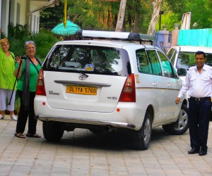 Michelle and me in Ethiopian C C New Delhi with our driver PARMOD