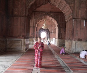 Gowned to enter the Great Mosque