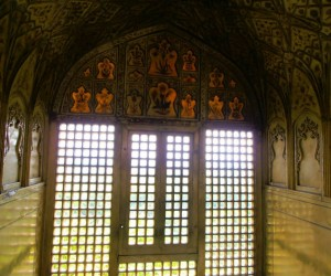 Transluscent Marble in one of the rooms facing the Taj Mahal