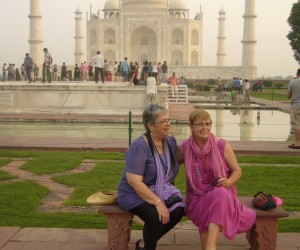 Michelle and me at the Taj Mahal