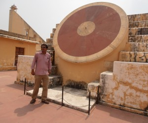 Dilip Singh our knowledgeable guide at the ancient observatory Jantar Mantar