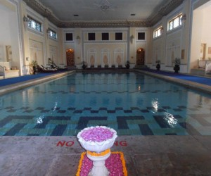 Rambagh Palace indoor pool the height of luxury