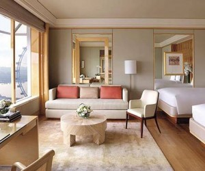 Ritz Carlton Singapore twin room with a view