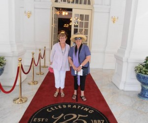 Raffles hotel on the red carpet for Michelle and me