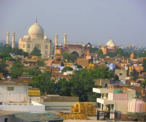 TAJ MAHAL our first glimpse from our 5th floor room brought tears to our eyes