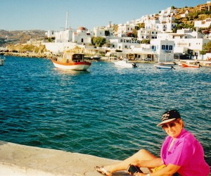 Mykonos town, swimming not so nice there as other beaches