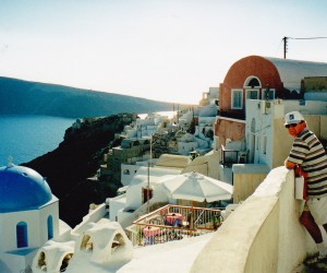 Oia Santorini, the pools here have best views of Caldera